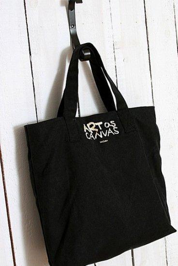 Canvas hangbag Tote Diaper Notebook bag - Black Canvas
