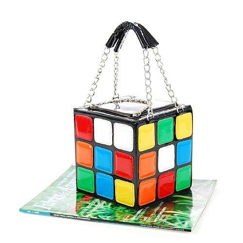 Leather Rubix Cube Lady Hangbag