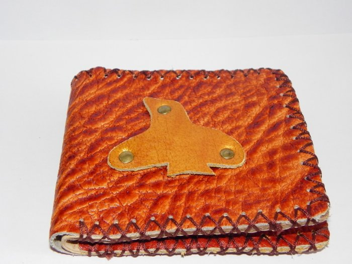 Father Gift Rustic Two Folded Cow Leather Purse Wallet E2