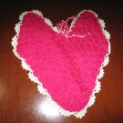 Heart shaped crochet washcloth