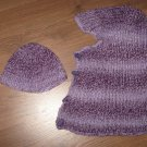 Handmade knit child hat for your child and hood for you