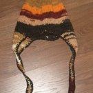 Earflap handmade knit hat