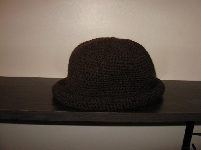 Crochet brown hat