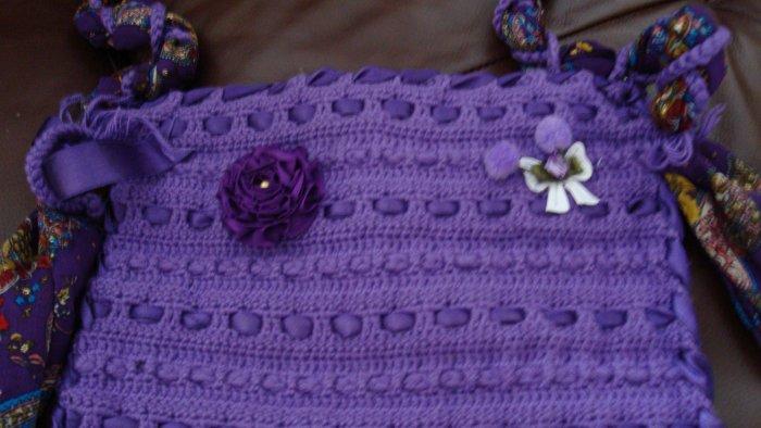 Handmade crochet ethnic bag