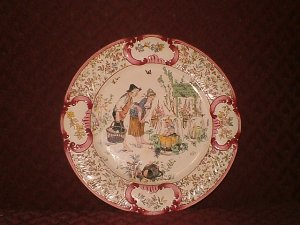 French Porcelain antque wall hangings