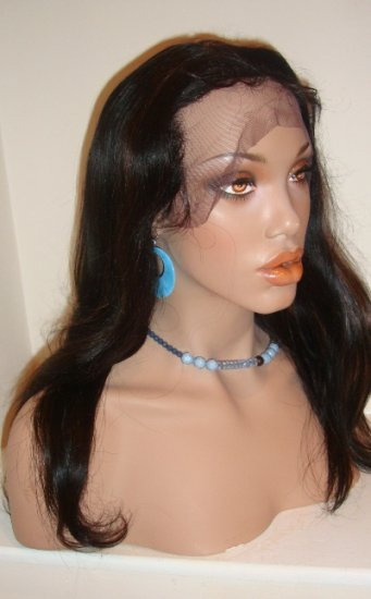 "16""  Silky Straight Full Lace Wig Indian Remy"