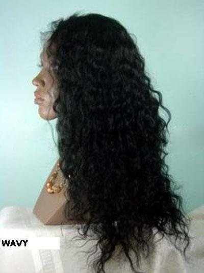 "14"" Wavy Full Lace Wig Indian Remy"