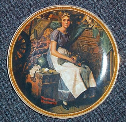 "Norman Rockwell ""Dreaming in the Attic"" Collectors Plate"