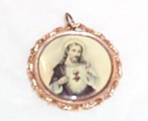 Beautiful Sacred Heart Medallion