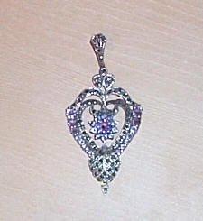 Beautiful Vintage Sterling Silver Amethyst Pendant