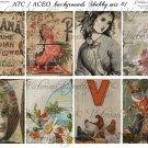 ATC/ACEO backs: Shabby mix #1