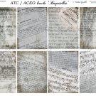 ATC/ACEO backs: Bagatelles