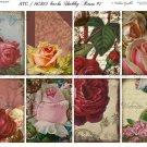 ATC/ACEO backs: Shabby Roses #1