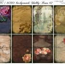ATC/ACEO backs: Shabby Roses #2