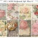 ATC/ACEO backs: Soft Roses #1