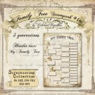 Family Tree: Steampunk #1a (beige/tan, A4 size, JPG)