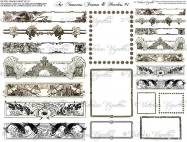 Art Nouveau Frames & Headers #1