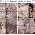 ATC/ACEO backs: A Hint of a Lady