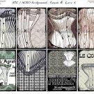 ATC/ACEO backs: Corsets & Lace #1