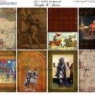 ATC/ACEO backs: Knights & Jesters