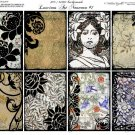 ATC/ACEO backs: Luscious Art Nouveau #1