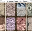 ATC/ACEO backs: Shabby Art Nouveau #1