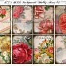 ATC/ACEO backs: Shabby Roses #3
