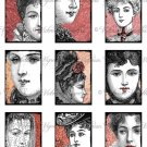 """2x3"""" Rectangles: Victorian Faces #1"""