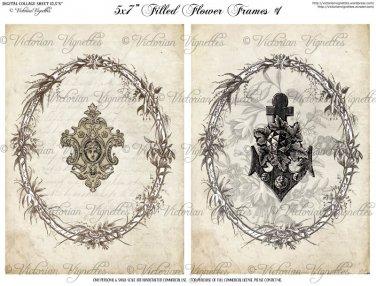 """5x7"""" Images: Filled Flower Frames #1"""
