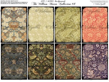 ATC/ACEO backs: The William Morris Collection #8