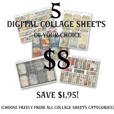 Special Offer: Any 5 collage sheets for $7 (Save $2.95)
