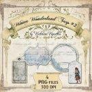 Digital Image Pack: Winter Wonderland Tags#2 (PNG, transparent background)