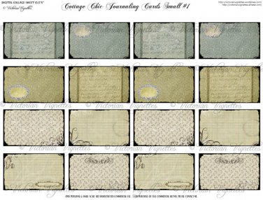 Cottage Chic Journaling Cards Small #1