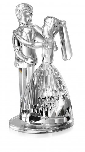 Godinger crystal dancing lovebirds wedding cake topper