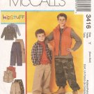 Boys' Shirt, Vest and Pull-on Pants size XS S Uncut M3416