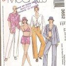 Misses' Shirt, Bikini Top, Drawstring Pants or Shorts and Hat size6, 8, 10 12 Uncut
