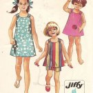 Vintage Simplicity 8815 Girls' Dress or Top and Shorts size 10