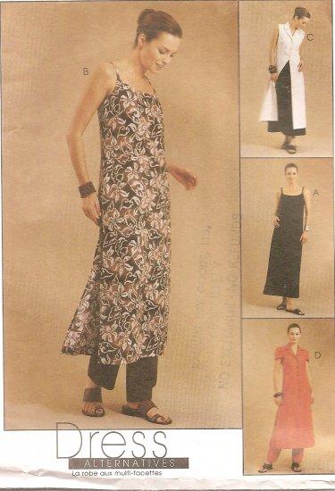 McCall's 2746 Misses' Slipdress, Dress and Pants size 12, 14, 16 Uncut