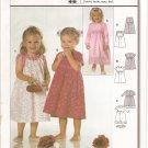 Burda 9854 Girls Dresses size 6m, 9m, 12m, 18m, 2, 3 Uncut