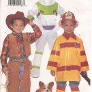 Butterick 4654 Childrens Costume Astronaut, Cowboy, Fire Fighter size XS, S, M, L