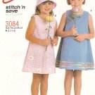 McCall's 3084 Girls Dress size 2, 3, 4, 5 Uncut
