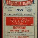 Brown's Nautical Alamanac 1959 (Hardcover)