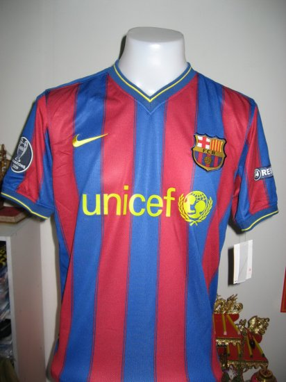 09-10 BARCELONA home jersey +UCL + 10 Messi   M-L-XL