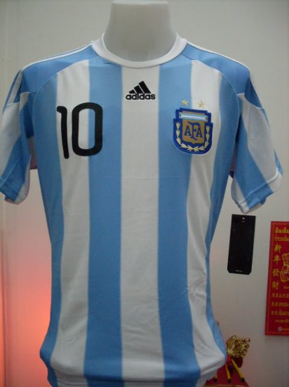 New WC ARGENTINA home + wc2010 + *10 MESSI  M/XL