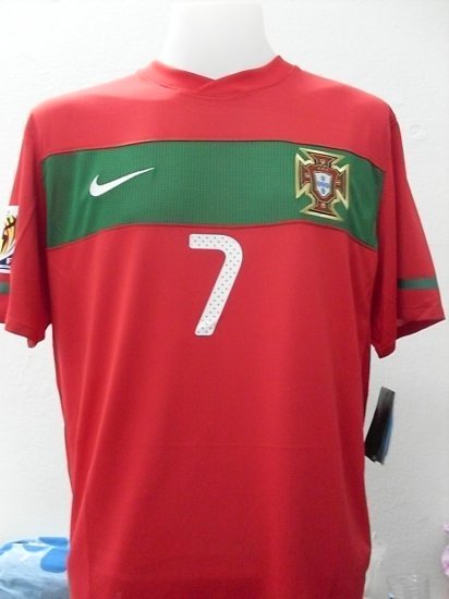 PORTUGAL  HOME WC2010 + patch 2010  *7  PONALDO Other Player Size M / XL