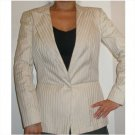 Gucci jacket with golden metallic pinstripes, 42