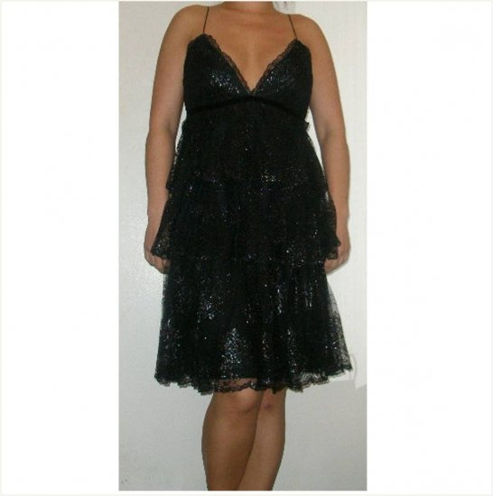Marchesa gorgeous NEW ruffled layered lace dress, 8