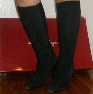 Ferragamo ultra classic black knee-high boots with original box, 5