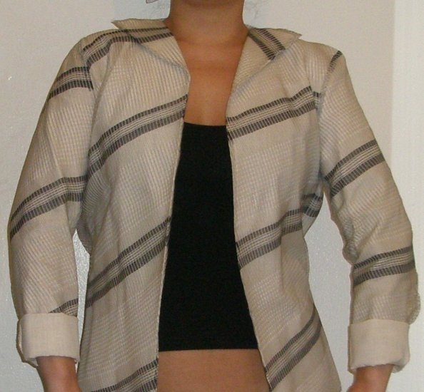 Jil Sander exquisite woven all silk jacket, size 4