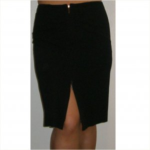 Emporio Armani double zip ruched top black skirt, 42